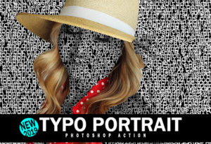 Typo Portrait Photoshop Action Deal