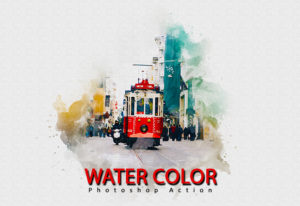 Watercolor Photoshop Action Deal
