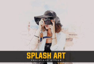 Splash Art Photoshop Action Bundle