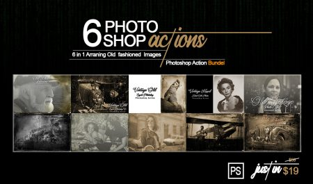 6-In-1 Vintage Photoshop Actions Bundle